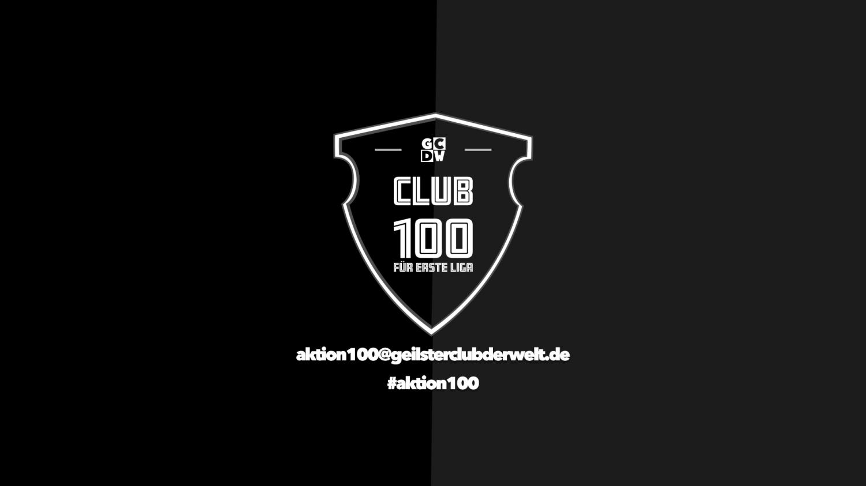 Es werden 100 Sponsoren a 1000 Euro für den Erhalt der Ersten Liga.